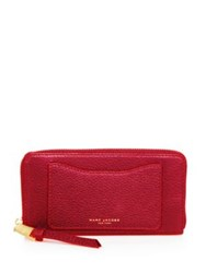 Marc Jacobs Standard Continental Leather Wallet Navy Blue