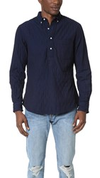 Gitman Brothers Vintage Quilted Popover Shirt Navy