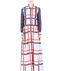 Preen Checked Grower Dress Black