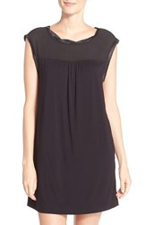 Midnight By Carole Hochman Women's Jersey Chemise Black