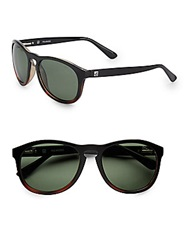 Sperry Fenwick Round Sunglasses Black Tortoise