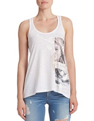 Guess Draped Tank Top White