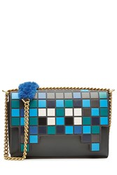 Anya Hindmarch Space Invaders Ephson Leather Shoulder Bag Multicolor