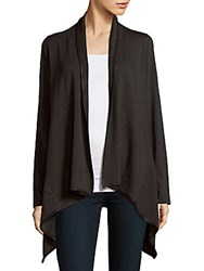 Saks Fifth Avenue Drapey Fleece Cardigan Charcoal