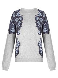 Collection Weekend By John Lewis Floral Sweatshirt Grey Blue