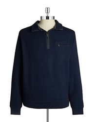 Bugatti Quarter Zip Sweater Navy