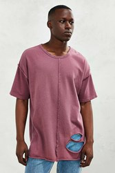 The Narrows Destroyed Center Seam Tee Mauve