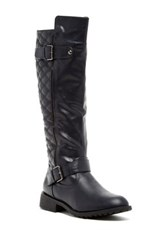 Bucco Imogen Quilted Riding Boot Black