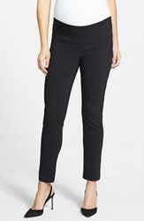 Women's Japanese Weekend Slim Fit Maternity Ankle Pants Black