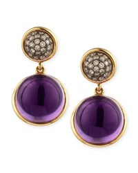 Syna Baubles Big Diamond And Amethyst Earrings