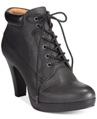American Living Garnet Lace Up Platform Booties A Macy's Exclusive Style Black