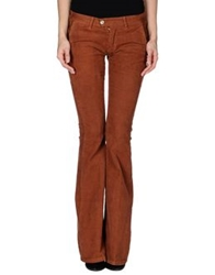 Paolo Pecora Donna Casual Pants Rust