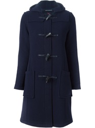 Gloverall Long Duffle Coat Blue