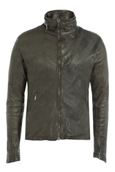 Giorgio Brato Leather Jacket Grey