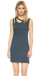 Lna Double Cut Tank Dress Washed Black