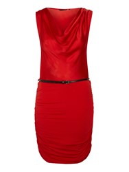 Salsa Sleeveless Wrap Dress In Red