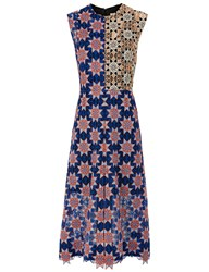 Jonathan Saunders Blue Star Lace Melissa Dress Multi