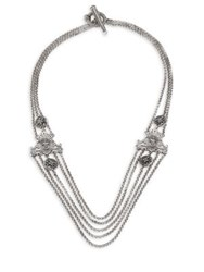 Konstantino Penelope Sterling Silver Multi Row Station Necklace