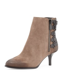 Luxury Rebel Noelle Suede Ankle Boot Khaki Black