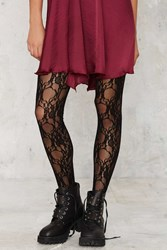 Nasty Gal Lace Study Floral Tights