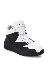 Article Number Dual Tone Deerskin Leather Sneakers Black White
