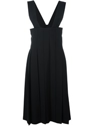 Comme Des Garcons Pleated Dungaree Dress Black