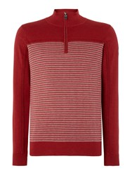 Duck And Cover Men's Moritz Crew Neck Knitwear Red