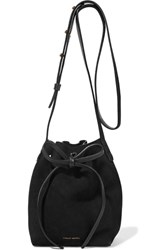 Mansur Gavriel Mini Mini Suede Bucket Bag Black