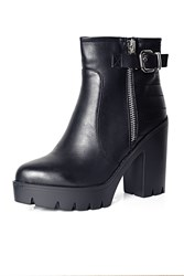 Alice And You Chunky Heel Ankle Boot Black