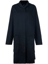 Rundholz Single Breasted Midi Coat Black