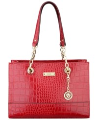 Anne Klein Coast Is Clear Small Chain Tote Cherry