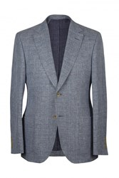 Chester Barrie Uxbridge Textured Blazer Light Blue