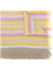 Diesel Striped Scarf Pink And Purple