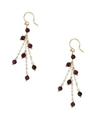 Chan Luu 18K Goldplated Garnet And Tigers Eye Sterling Silver Drop Earrings Pink