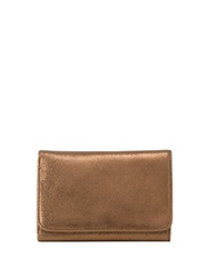 Hobo Leather Snap Button Wallet Copper