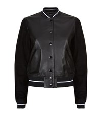 Rag And Bone Rag And Bone Alix Leather Varsity Jacket Female Black