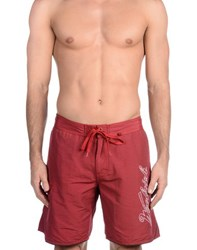 Woolrich Swimwear Swimming Trunks Men Red