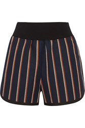 Sacai Striped Cotton Blend Shorts