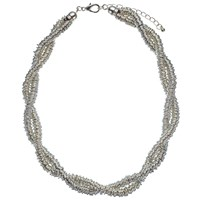 John Lewis Twisted Rings Necklace Silver