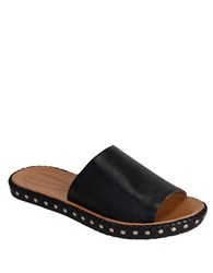 Corso Como Besti Leather Slide Sandals Black
