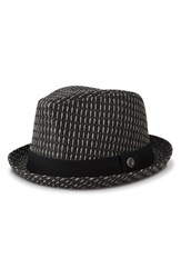 Men's Ben Sherman 'Open Vent' Straw Fedora Jet Black