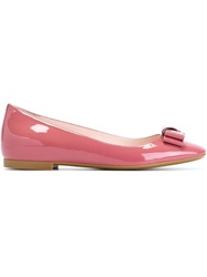 Bally 'Buonea' Ballerinas Pink And Purple
