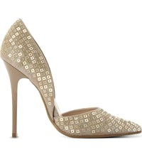 Steve Madden Varcity Sequin Heeled Courts Gold Synthetic