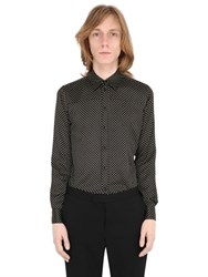 Saint Laurent Polka Dot Silk And Cotton Satin Shirt