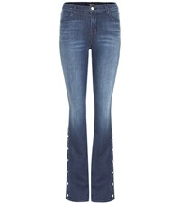 J Brand Charlene Mid Rise Bootcut Jeans Blue