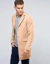 Esprit Wool Overcoat Camel Tan