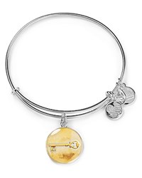 Alex And Ani Art Infusion Skeleton Key Expandable Wire Bangle Silver