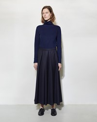 Blue Blue Japan Wool Hakama Wide Pants Navy