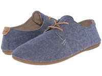 Sanuk Bianca Tx Slate Blue Chambray Women's Slip On Shoes
