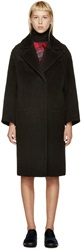 Erdem Black Wool And Lace Cocoon Jeanette Coat